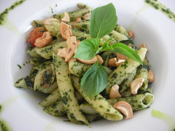 Spaghetti Penne with Pesto